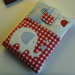 "LAST ONE - iPad Mini 7"" Tablet Cover - Elephant Blue Patchwork"