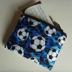 Coin Purse - Blue Footballs