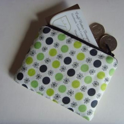 Coin Purse Green Dots