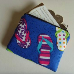 Coin Purse - Flip Flops Royal Blue
