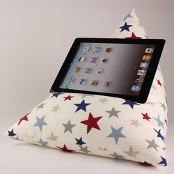 RWB Stars - Tablet - iPad - e-reader - Book - Beanbag - Cushion - Pillow