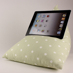 Sage Polka - Tablet - iPad - e-reader - Book - Beanbag - Cushion - Pillow