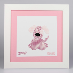 Personalised Appliqued Picture for a girls bedroom