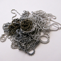 14 Mixed Silver Plated Ball Chain Necklaces Chains 18 inches 45 cm Tiny  Light