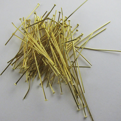 90 Gold Plated Headpins 5cm  2 inch