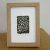 EMBROIDERED PICTURE GARDEN IMPRESSION TEXTILE IN LIGHT WOOD FRAME