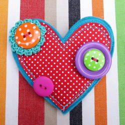 Polka Dot Heart Brooch