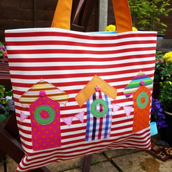 Beach Hut Beach Bag