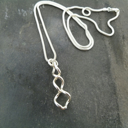 Sterling Silver Double Coil Pendant