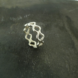 Sterling Silver Double Ripple Ring