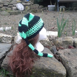 Bright Green & Black Hat -  ALL sizes