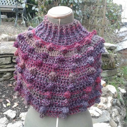 Chunky Bobbled Capelet or Poncho