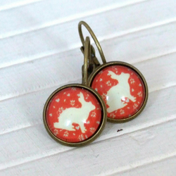 Red Rabbit Earrings