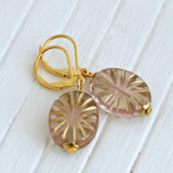 Pink Starburst Earrings