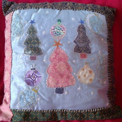 Trees & Baubles Christmas Cushion