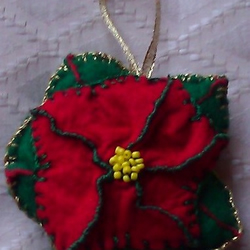 Felt Tree Ornament - Poinsettia