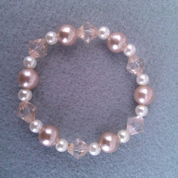 Elasticated  Bracelet - Crystal Shimmer