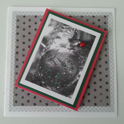 Monochrome Bauble - Christmas Card