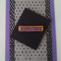 Snakeskin and Stars - Halloween Card