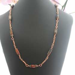 Copper and Red Creek Jasper Necklace