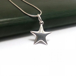 Sterling silver star pendant necklace solid sil folksy sterling silver star pendant necklace solid silver star necklace dainty necklace mozeypictures Image collections