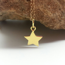 Little Gold Star Necklace Gold Filled Chain Lucky Star Choker