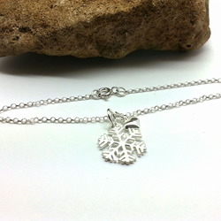 Sterling Silver Snowflake Bracelet Winter Birthday Christmas Jewellery