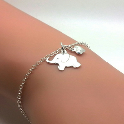 Silver Elephant Bracelet Little Sterling Silver Happy Elephant