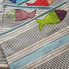 Placemats with seaside theme, set of 4. Fish applique