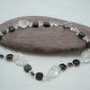 Garnets & Crackled Quartz necklace