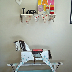 Upcycled 1960's Vintage Circus Rocking Horse