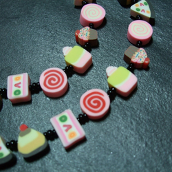 Pick N Mix Collection Let Them Eat Cake Kitsch Fimo Necklace