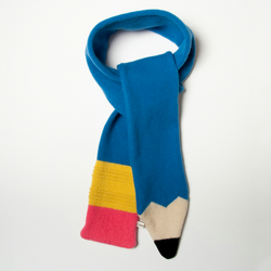 Lambswool Blue Pencil Scarf