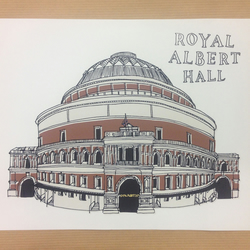 "Royal Albert Hall digital print 10x8"" (25.4x20.3cm)"