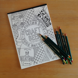 Colouring Book - Craft Beer Illustrations