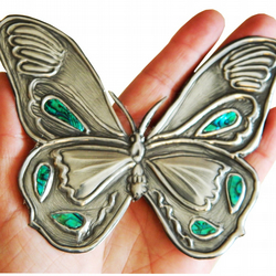 Butterfly embellishment Green Mother of Pearl Inlay