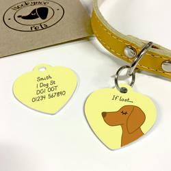 Vizsla Collar Name Tag