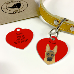 German Shepherd Collar Name Tag