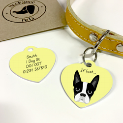 Boston Terrier Collar Name Tag