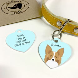Papillon Collar Name Tag