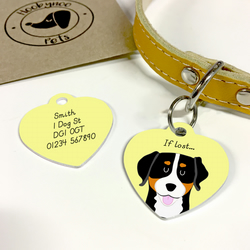 Greater Swiss Mountain Dog Collar Name Tag