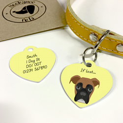 Boxer Collar Name Tag