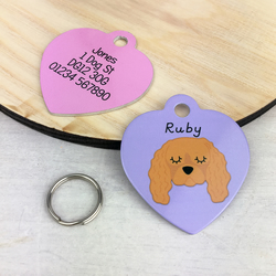 Cavalier king charles spaniel Collar Name Dog Tag