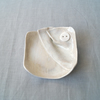 Square GATHERED linen porcelain button bowl soap dish trinket dish