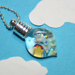 Pretty Weather Inspired Vial Pendant With Different Weather Symbols