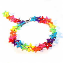 Rainbow and Miniature Stars Bracelet
