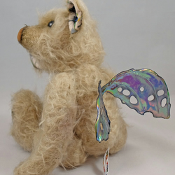 Butterfly a 9 inch mohair Artist Bear by Bears of Bath