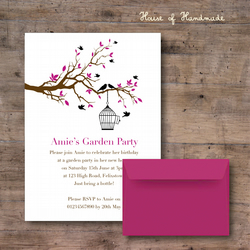 Floral Birdcage Invitations - Personalised for FREE
