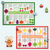 UK Seasonal Fruit and Vegetables Charts - Set of 2 Kawaii Postcards