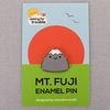 Mt Fuji Hugs Kawaii Enamel Pin